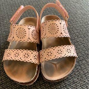 2 pairs of Cat & Jack girls toddler sandals